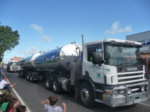 The co-op's milk trucks are part of Yarram