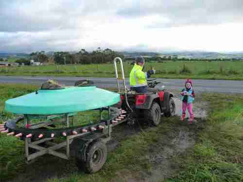 Quadbar in action on the farm