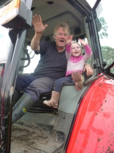 Farm kids get to spend lots of time with their Dads