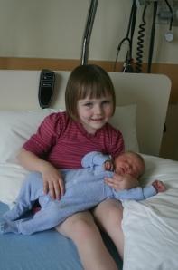 Zoe and baby Alex