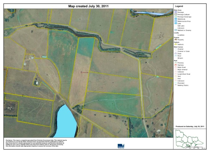 Part of the farm on eFarmer mapping software