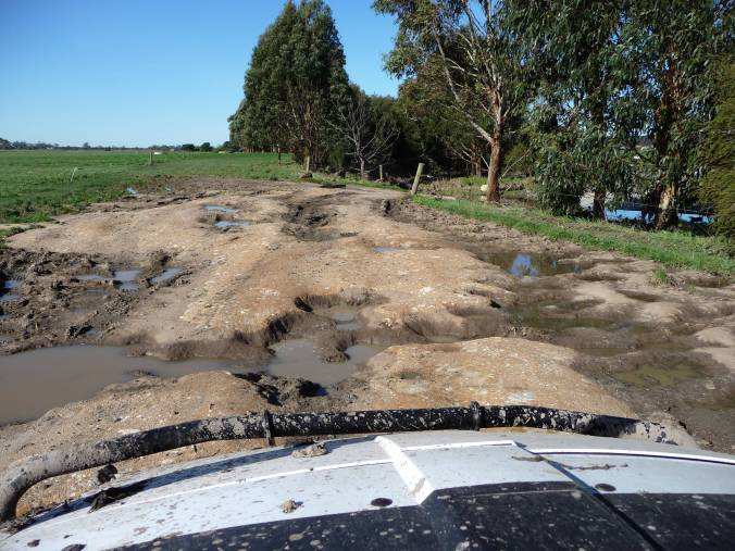 Farm track after the flood