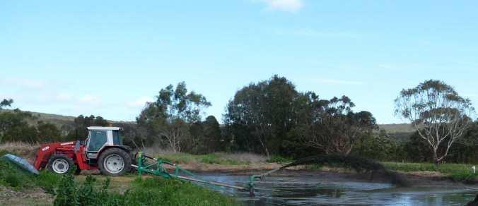 Agitating the effluent pond