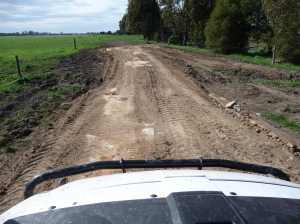Repaired cow track