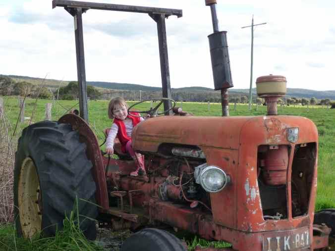 Zoe drives the David Brown