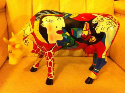 Painted Picasso Cow