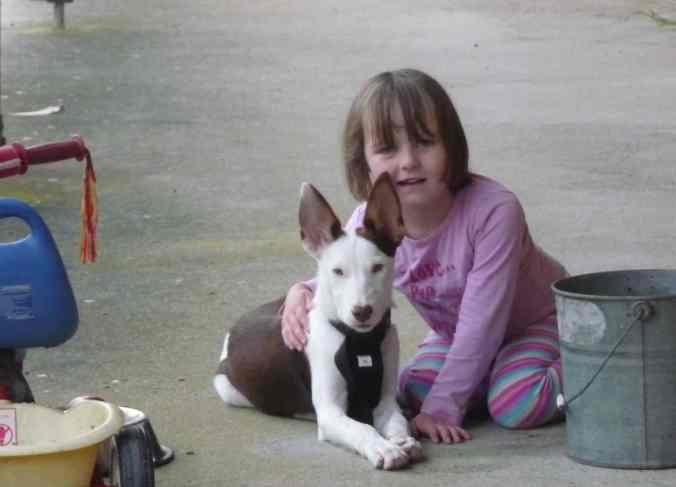 Zoe and Patch the pup
