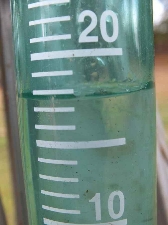 Almost 18mm of gentle rain!