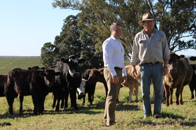 Joel Fitzgibbon meets a Hunter farmer
