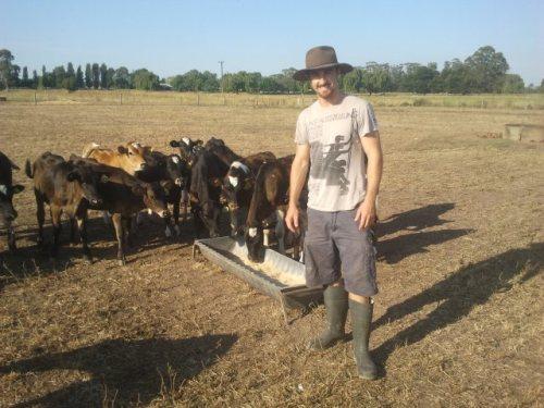 Aspiring dairy farmer, Andrew Dallimore