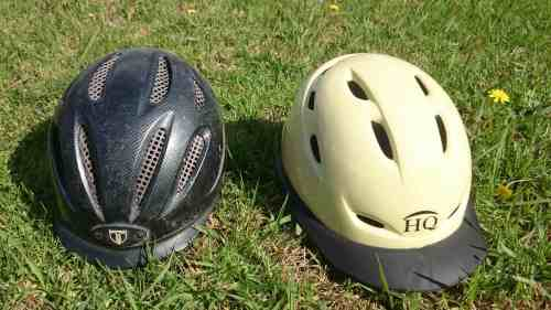 Equestrian helmet (left) vs Stockman (right)